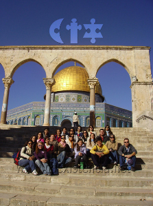 international exchange students at Jerusalem, Israel, in one of our study abroad summer courses for overseas universities